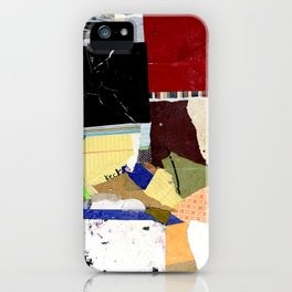Hold Fast Abstract Mixed Media Collage Art iPhone Case