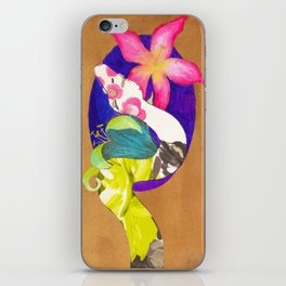 Albino Boa Constrictor with lillies iPhone Skin