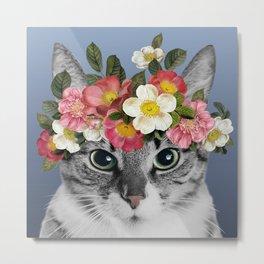 Hippie Cat 1 Metal Print
