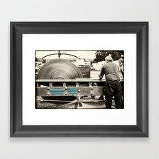 Stenner Saw Bench Framed Art Print