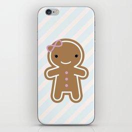Cookie Cute Gingerbread Girl iPhone Skin