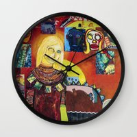 cartoon Wall Clocks featuring Cartoon by Mira C