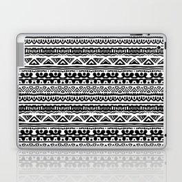Ethnic stripes in black and white Laptop & iPad Skin