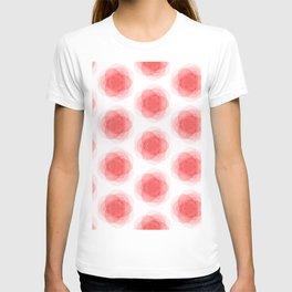 3D Roses Pattern. T-shirt