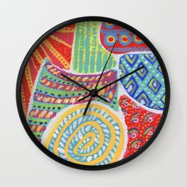 Doodle Collection 2 Wall Clock