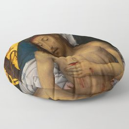 "Hans Memling ""The Man of Sorrows in the arms of the Virgin"" Floor Pillow"