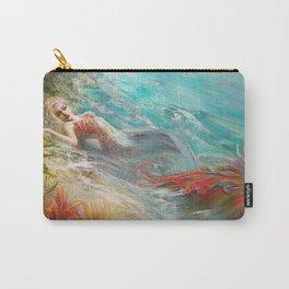 Mermaid sunbathing on the beach fantasy Carry-All Pouch