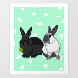 Elly and Bobby Art Print
