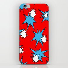 Stars (Blue & White on Red) iPhone Skin