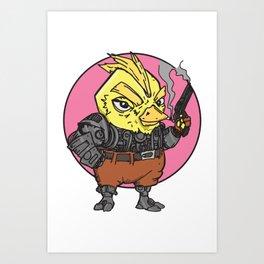 Bounty Hunter Android Chick Art Print