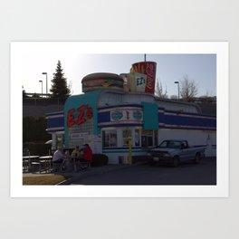 Burger Joint Color Art Print
