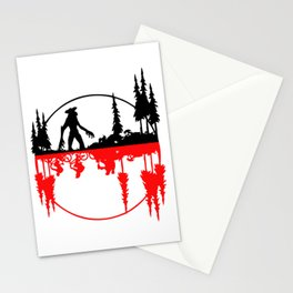 Stay Strange black and red Stationery Cards