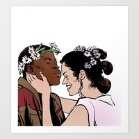 Finn and Rey Art Print