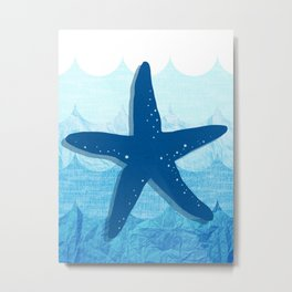 Salty Kisses and Starfish Wishes Set Seastar Metal Print