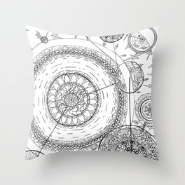 Movement of the Spheres 01 Throw Pillow