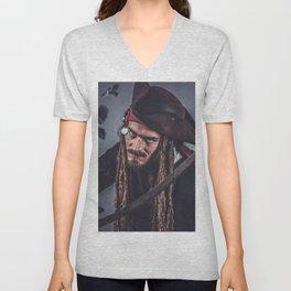 Pirate Sparrow Unisex V-Neck