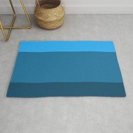 Blue Gradient Pattern Rug