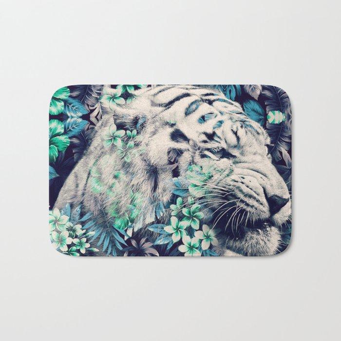 Floral Tiger Bath Mat
