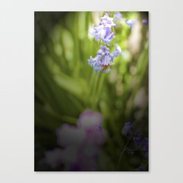 Bee in a Bell Canvas Print