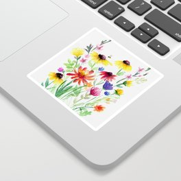 Summer Wildflowers Sticker