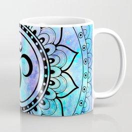 Om Mandala Pink Lavender Aqua galaxy space Coffee Mug