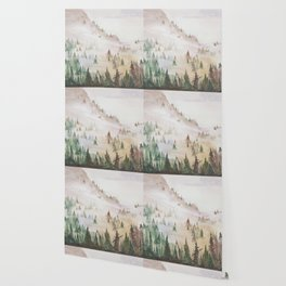 Forêt dans la brume Wallpaper