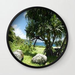 Keanae Point Maui Hawaii Wall Clock