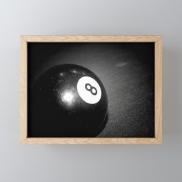 Eight Ball-Black Framed Mini Art Print
