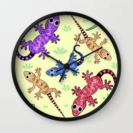 Geckomania (Lemon Chiffon) Wall Clock