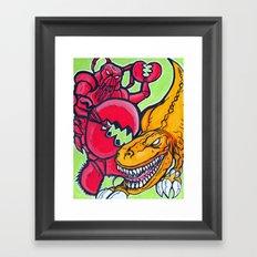 Lobster Magnet Framed Art Print