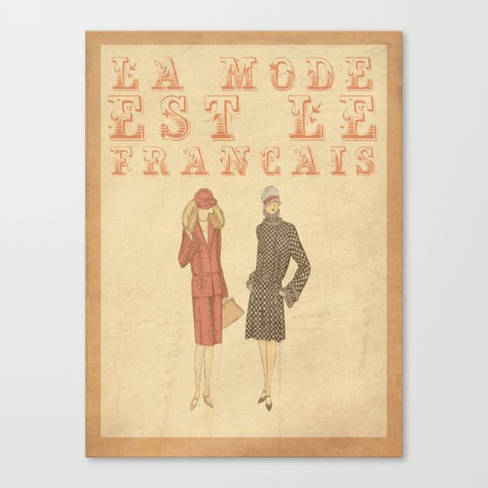 French Fashion Canvas Print