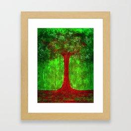 Earth-Tree-Forest Framed Art Print