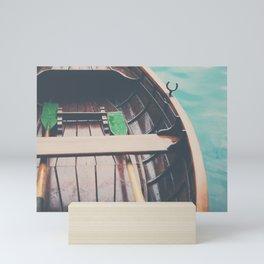 drifting on Lake Bled photograph Mini Art Print