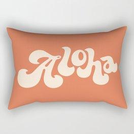 Aloha orange Rectangular Pillow
