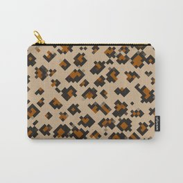 Pixelated Leopard Carry-All Pouch