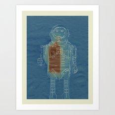 Sun Print - Vintage Robot Art Print