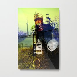 Tommy thompson park lighthouse in Toronto collage Metal Print