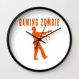 Funny Gaming Zombie Wall Clock