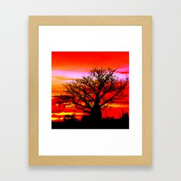 Fire n Boab Framed Art Print