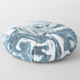 Marble swirl suminagashi minimal ocean waves watercolor ink marbled japanese art Floor Pillow