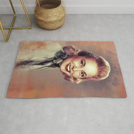 Janet Leigh, Vintage Actress Rug