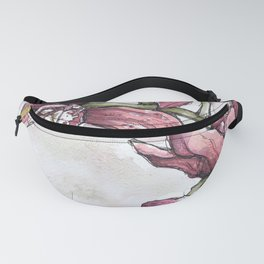 Orchids - Watercolor and Ink artwork Fanny Pack