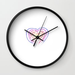 """""""Allow Who You Are On The Inside To Be Who You Are On The Outside"""" T-shirt Design Personality Human Wall Clock"""