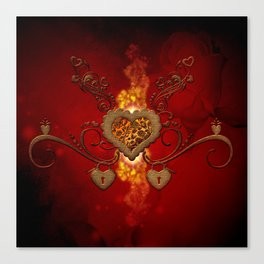 The wonderful hearts Canvas Print