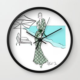 Cara in Aloha Wall Clock