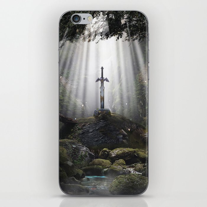 Master Sword in Ruins (Breath of the Wild) iPhone Skin