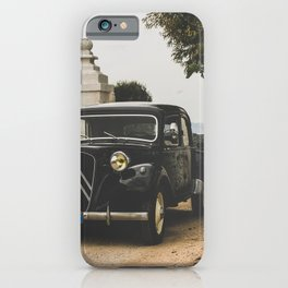 French car, fine art photography, Traction Avant, old auto, classic car, supercar, old car print iPhone Case