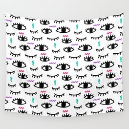 Abstract Eyes Wall Tapestry