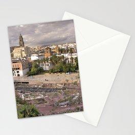 Malaga Amphipheatre Cityscape Stationery Cards