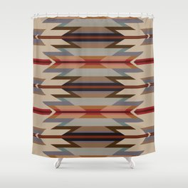 American Native Pattern No. 128 Shower Curtain
